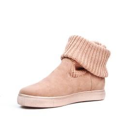 Bottine chaussette fille rose