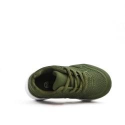 Basket enfant verte à lacet