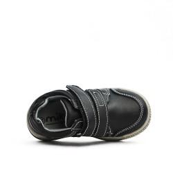 Basket enfant noire en simili cuir