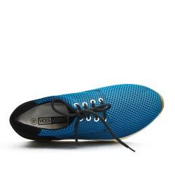 Basket bleu à lacet avec semelle épaisse