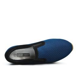 Basket bleu avec semelle épaisse