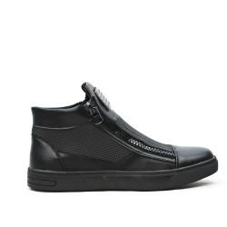 Basket noire à double zippe