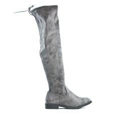 Gray suede boot with lace