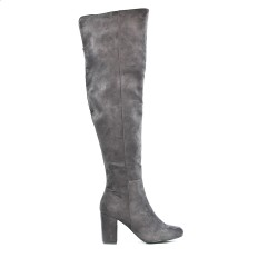 Gray suede boot in suede