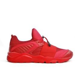 Basket bi-matières rouge