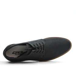 Derby noire en simili cuir à lacet