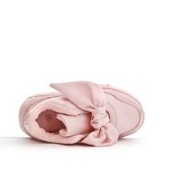 Basket fille rose à nœud