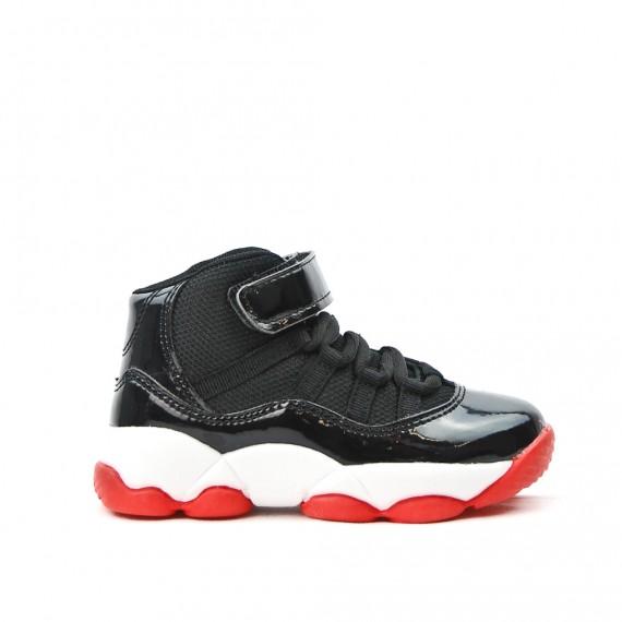 Zapato de baloncesto rojo negro de Boyfoot