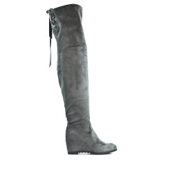 Gray suede boot in gray suede