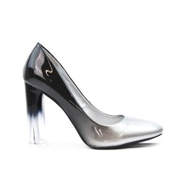 Gray Heeled Shoe