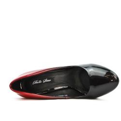 Black heel with transparent heel