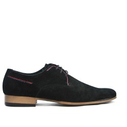 Black Derby in Lace-Leather Crust