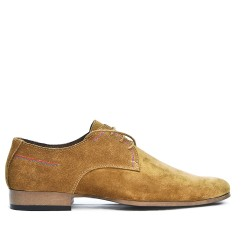 Derby camel in leather lace crust