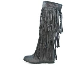 Flecos botas de cuña grises