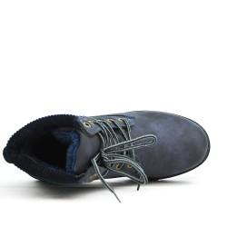 Bottine confort bleu à lacet