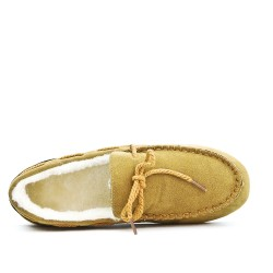 Camel style moccasin booties