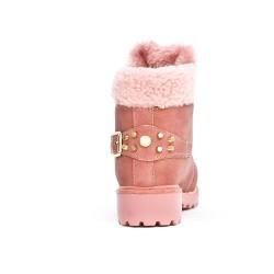 Bota de niña rosa con encaje