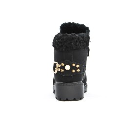 Black girl boots with lace