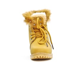 Camel girls boots with lace
