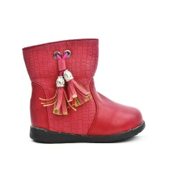 Girl's boot with pompm
