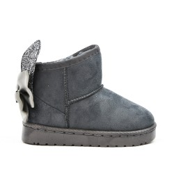 Gray girl boot with rabbit ears
