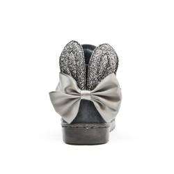 Botte fille grise à oreilles de lapin