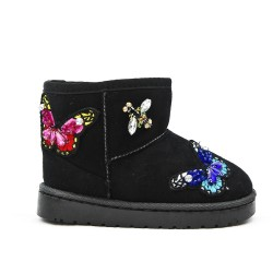 Black girl boot with butterfly