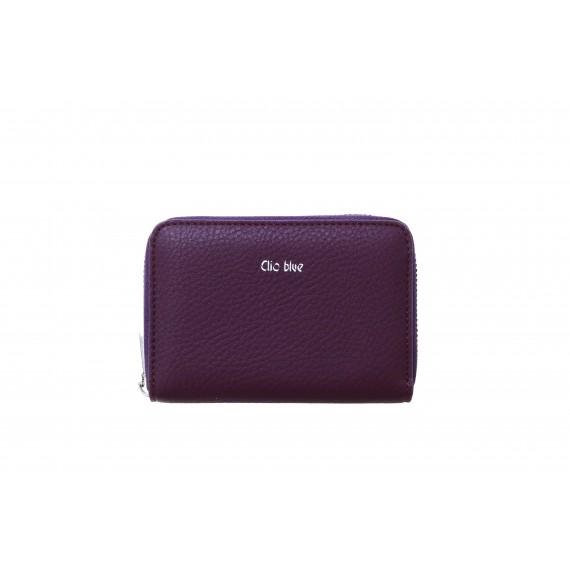 CLIO BLEU - Portefeuille zippé