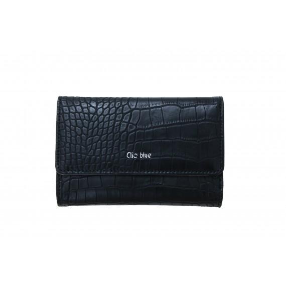 CLIO BLEU - Portefeuille imprimée