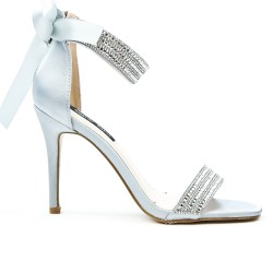 Gray sandal with bow on the back