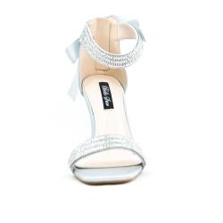 Sandale grise à nœud au dos