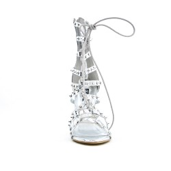 Silver lace sandal
