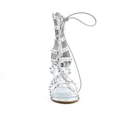 Sandale argent à lacet en déco