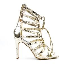 Sandale dorée à lacet en déco