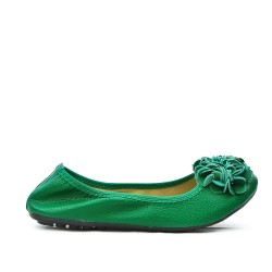 Comfort green ballerina in large size