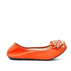 Comfort orange ballerina in large size