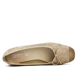 Beige ballerina with square toe in large size