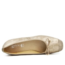 Golden ballerina with square toe in large size