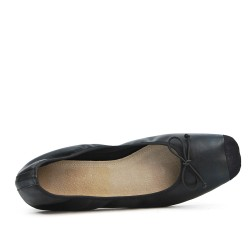 Black ballerina with square toe in large size
