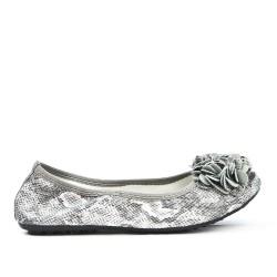 Ballerine confort gris imprimé serpent