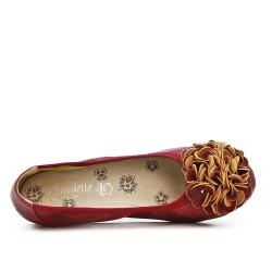 Ballerine confort rouge imprimé serpent