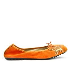 Ballerine confort orange à motif étoile