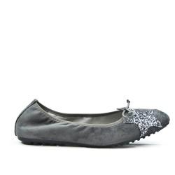 Ballerine confort gris à motif étoile