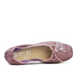 Ballerine confort rose à motif étoile