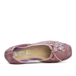 Pink comfort ballerina with star pattern