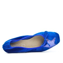 Blue comfort ballerina with star pattern
