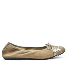 Ballerine confort beige à motif étoile