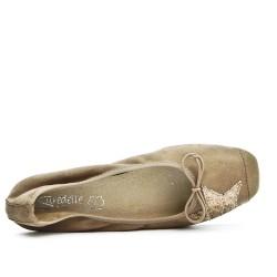 Beige comfort ballerina with star pattern