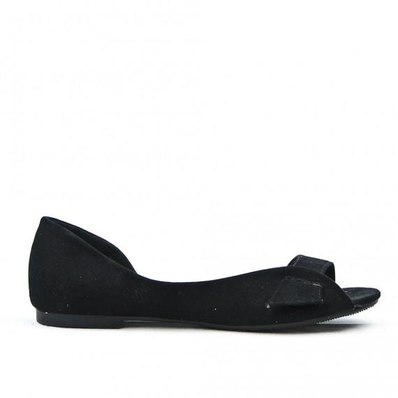 Black ballerina with open toe