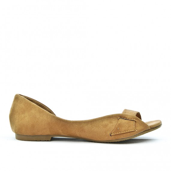 Taupe ballerina with open toe